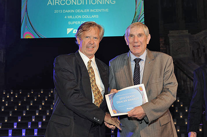 Air & Water's Daikin dealer award