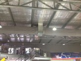 Commercial evaporative air conditioning with duct sock